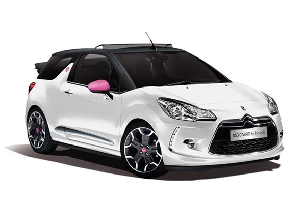 Polar white body and black roof for Citroen DS3 Cabrio DStyle by Benefit